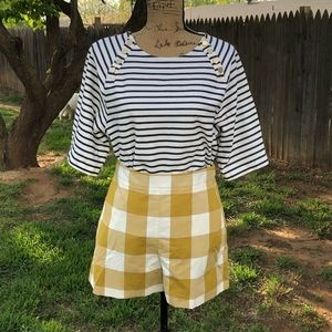 Ann Taylor Plaid Shorts NWT